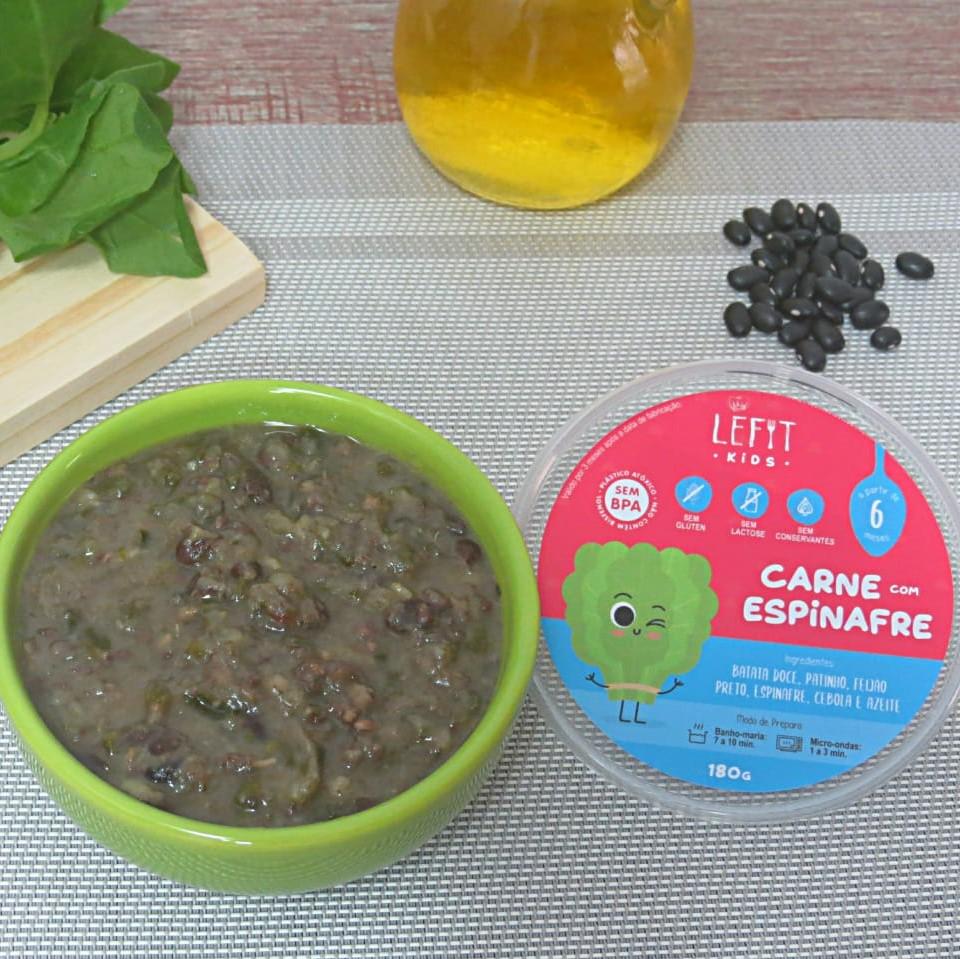 LeFit Pratos Saudaveis - Carne com Espinafre 180g