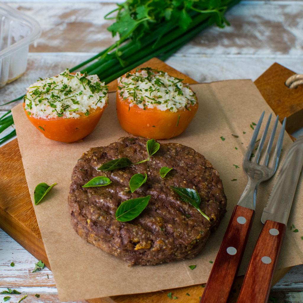 Lefit Pratos Saudáveis - Hambúrguer com Tomates Recheados – 300g