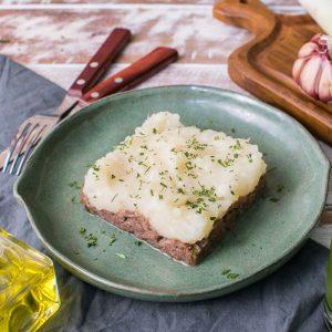 Lefit Pratos Saudáveis - Carne Desfiada com Purê de Aipim