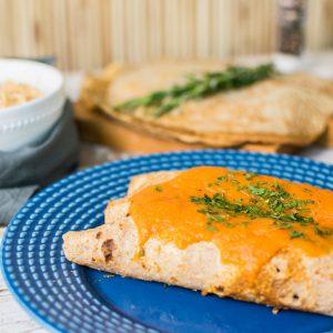 lefit pratos saudaveis - Panqueca Integral de Frango