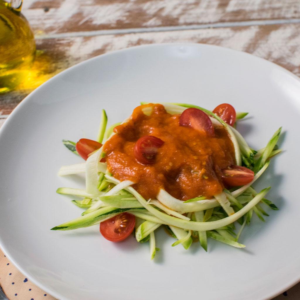 lefit pratos saudaveis - espaguete de abobrinha