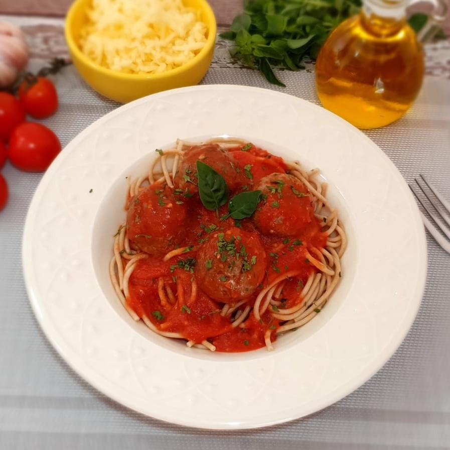 Lefit Pratos Saudáveis - Espaguete Integral com Almôndegas – 400g