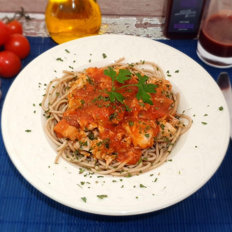 Lefit Pratos Saudáveis - Espaguete Integral com Sobrecoxa – 400g