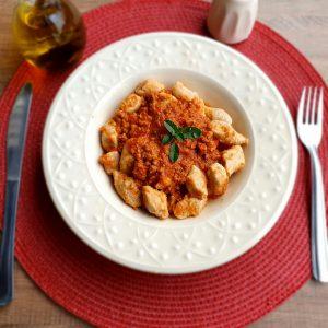 LeFit Pratos Saudáveis Nhoque à Bolonhesa